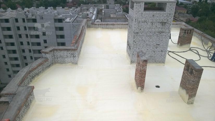 Утепление крыши пенополиуретаном жилого здания