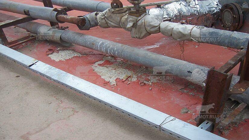 нарушение технологии подготовки основания под гидроизоляцию