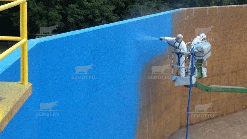 гидроизоляция из полимочевины бетонного резервуара