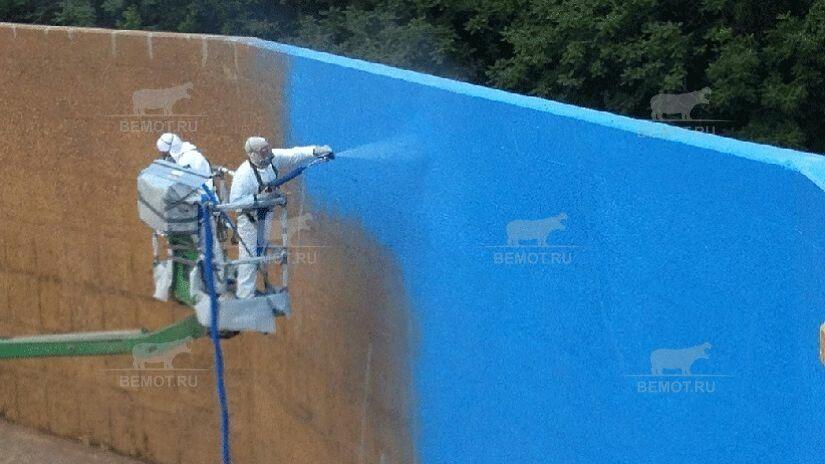 гидроизоляция и герметизация бетонных резервуаров полимочевиной