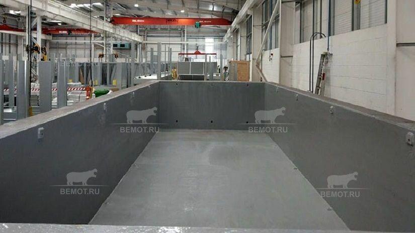 гидроизоляция железобетонного резервуара на производстве