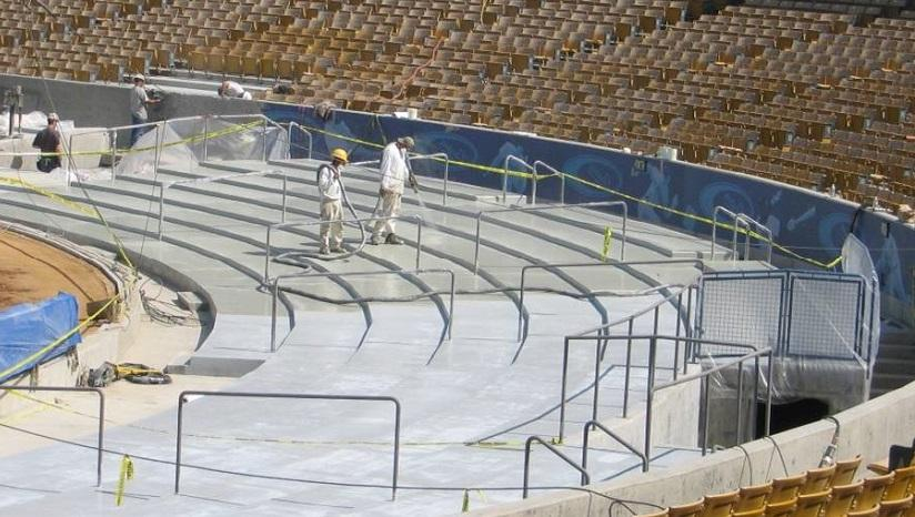 Абразивоустойчивая гидроизоляция трибун стадиона