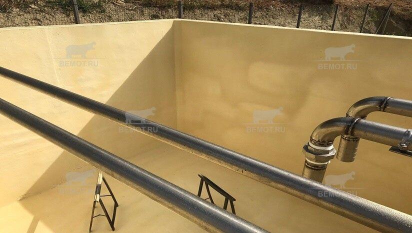 Антикорозионное покрытие в бетонном резервуаре