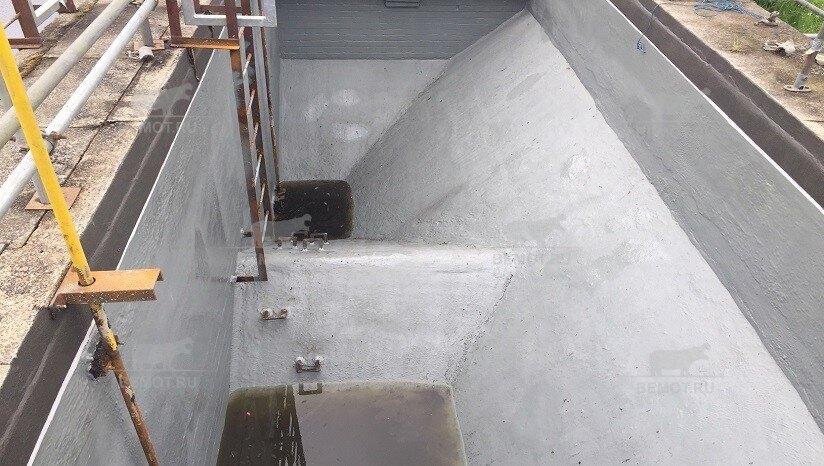 Защита бетонного резервуара полимочевиной от химических воздействий