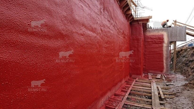 Готовое полимерное покрытие заглубленной части здания