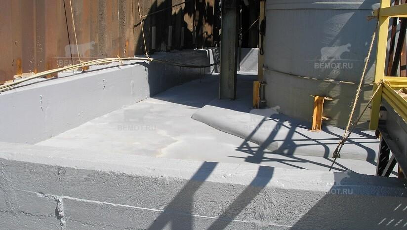 защита бетонных приямков полимочевиной