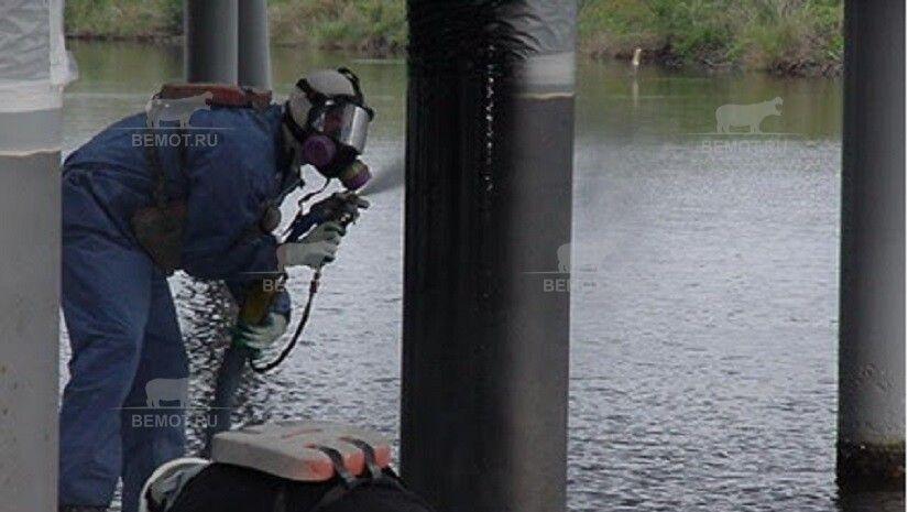 Напыляемая гидроизоляции опор мостов