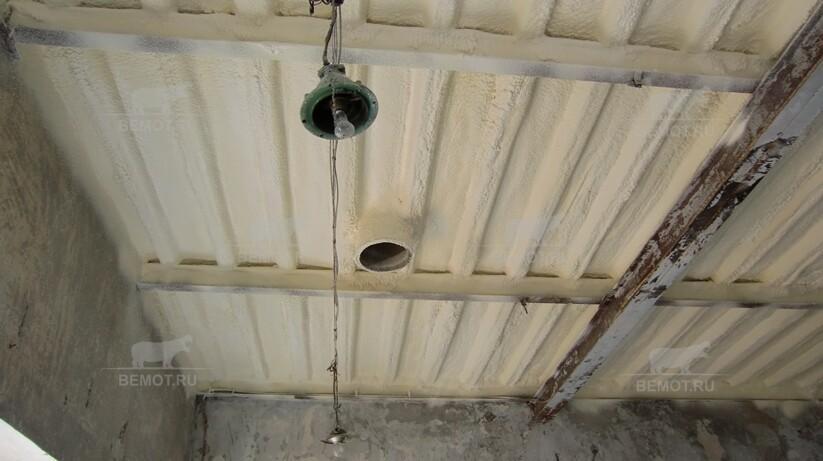 утепление плоской крыши изнутри